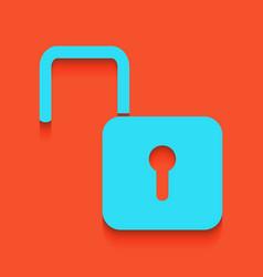 Unlock sign whitish icon on vector