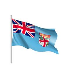 Waving flag of fiji vector