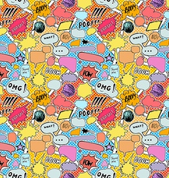 Seamless pattern background with handdrawn comic vector