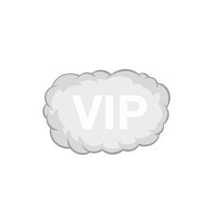 Sign vip in the cloud icon black monochrome style vector