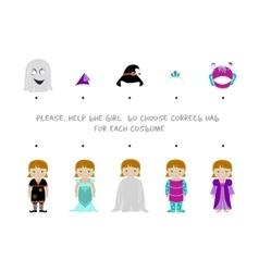 Halloween logic task for kids vector image