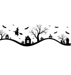 Halloween banner with witch vector