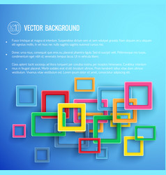 Abstract frames blue background vector