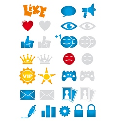 Social network icons vector