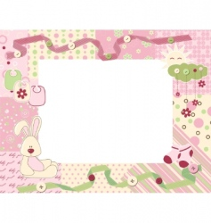 child photo frame vector image