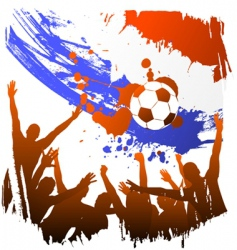 World cup holland vector