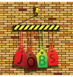 Jobs under construction vector