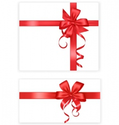 Two red bows and ribbons vector
