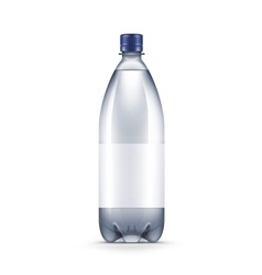 Blank plastic blue water bottle isolated vector