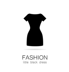 Fashion little black dress template vector