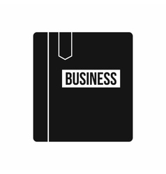 Business book with bookmark icon simple style vector