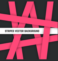 abstract pink stripes background vector image vector image