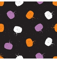 Abstract seamless pumpkins vintage pattern vector