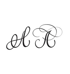 art calligraphy letter a vector image vector image