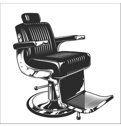 barbershop chair vector image vector image