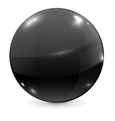 black glass ball vector image vector image