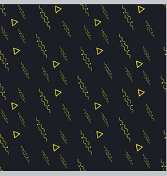 Black yellow seamless background pattern vector