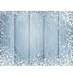 Blue wood texture with white snow eps 10 vector