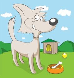 Cheerful dog vector