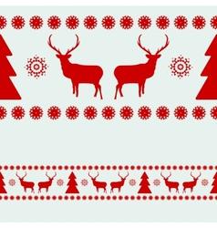 Christmas Deer seamless Pattern vector image vector image
