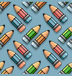 color pencils seamless pattern cute vector image vector image