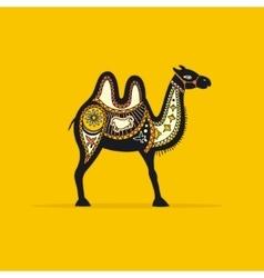 Decorative camel vector
