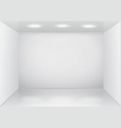 empty white room interior vector image
