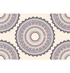 Ethnic aztec circle ornament seamless pattern vector