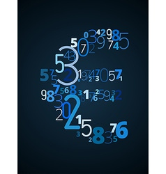 Euro sign font from numbers vector