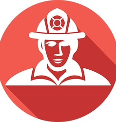 Firefighter icon vector