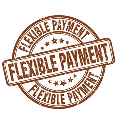 Flexible payment stamp vector