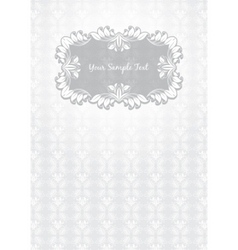 floral pattern frame template vector image