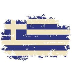Greek grunge flag vector