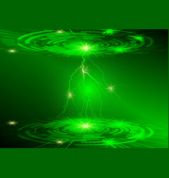 Green circle and light technology background vector