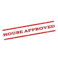 House approved watermark stamp vector