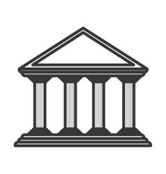 Monochrome color of greek temple parthenon vector