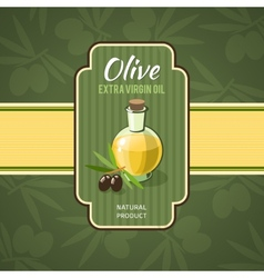 Olive Oil Badge vector image vector image