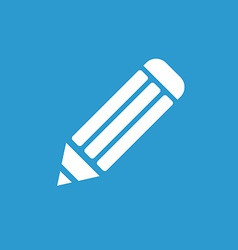 pencil icon white on the blue background vector image