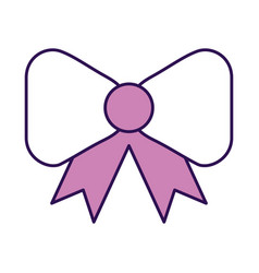Purple bow cartoon vector
