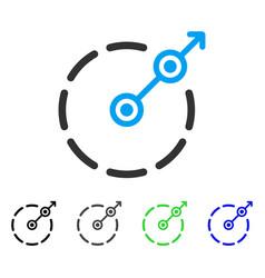 Round area exit flat icon vector