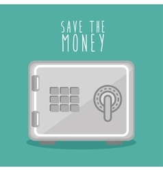 Save the money box design icon vector