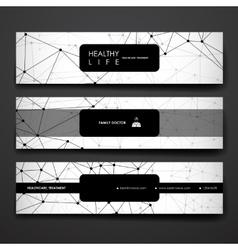 Set of modern design banner template in healthcare vector