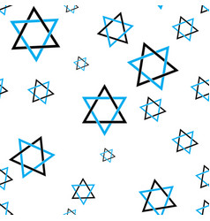 Stars of david pattern vector