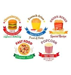 Takeaway meal symbols for fast food design vector