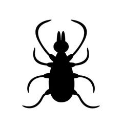 Tick insect silhouette shape mite deer ticks big vector