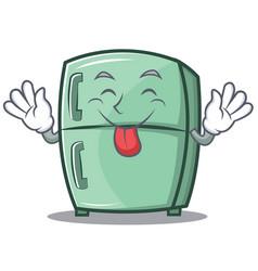 Tongue out cute refrigerator character cartoon vector