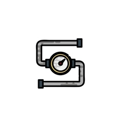 Water pipes flat icon vector