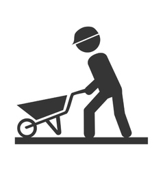 Worker construction male icon vector