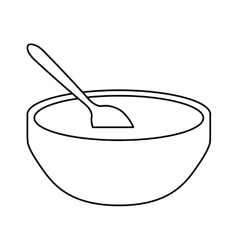 soup bowl icon image vector image