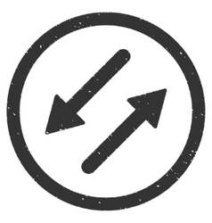 Diagonal exchange arrows icon rubber stamp vector